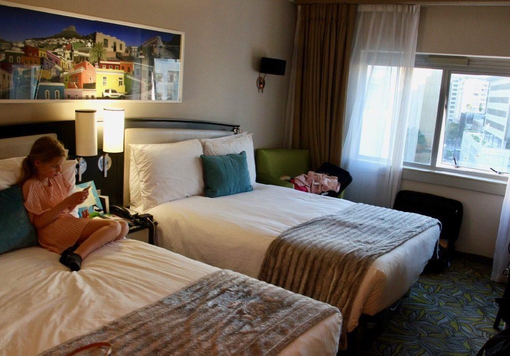 Dubbelrum på Southern sun waterfron hotel Kapstaden