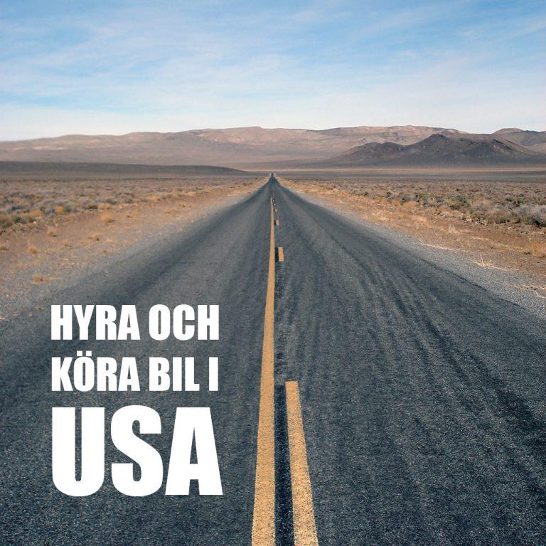 Hyra och köra bil i USA