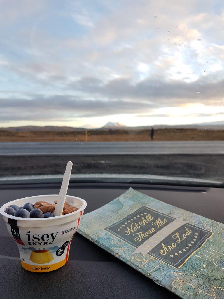 Frukost i bilen
