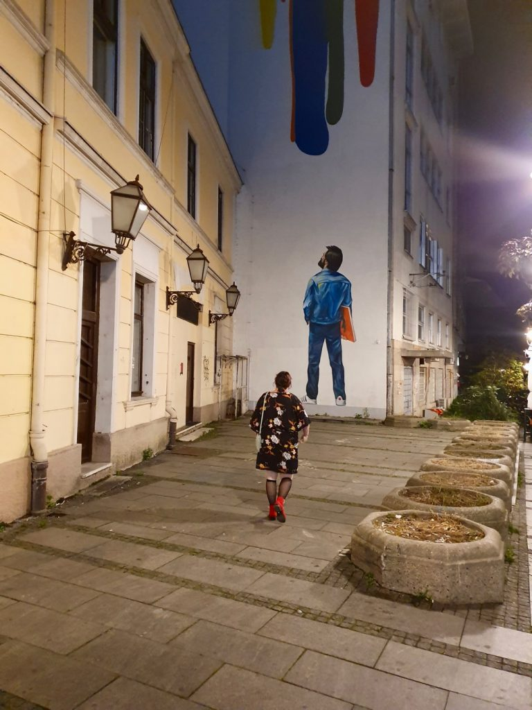 Gatukonst i Belgrad.