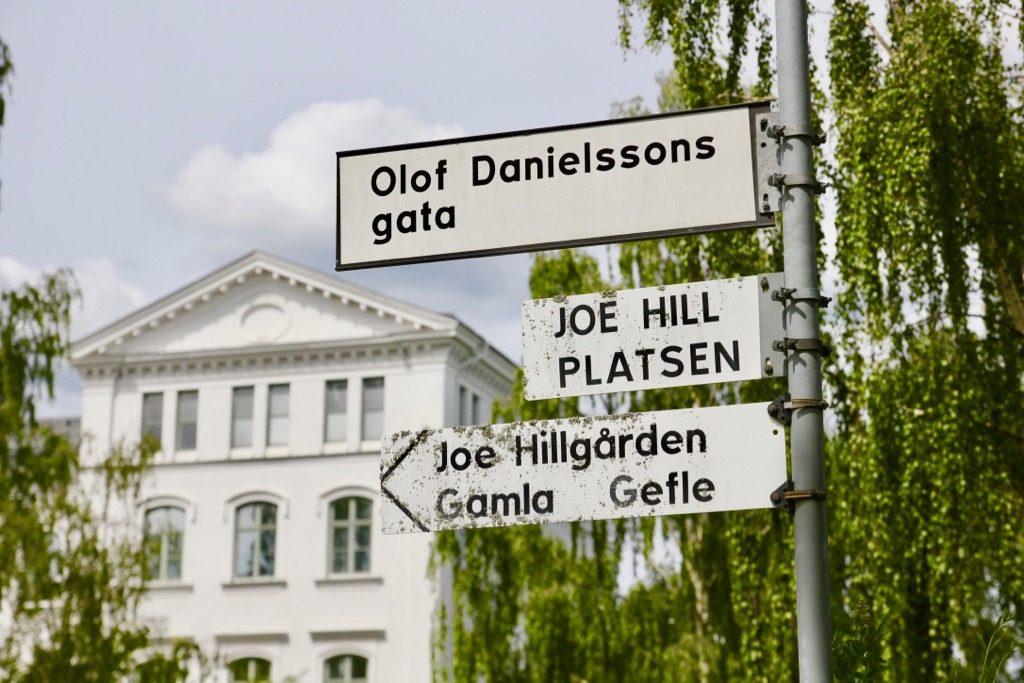 Joe Hills plats i Gävle