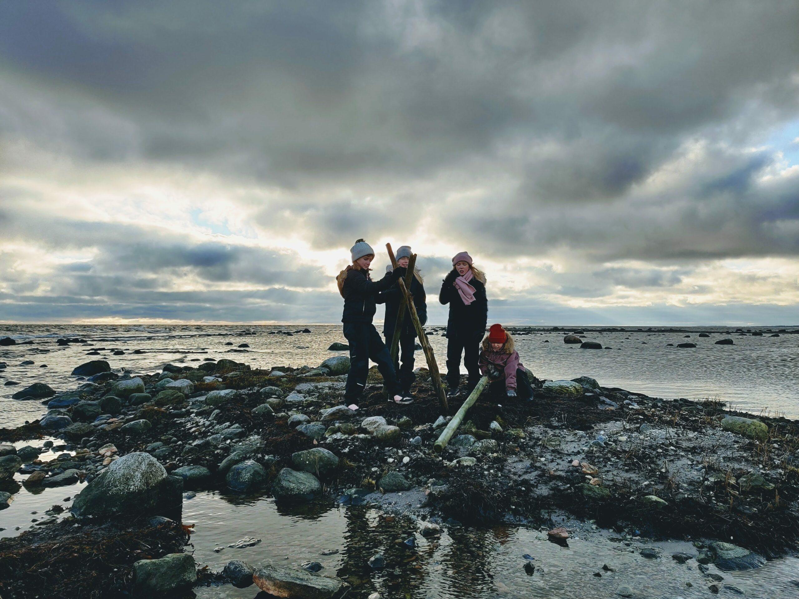 Kojbygge på Öland